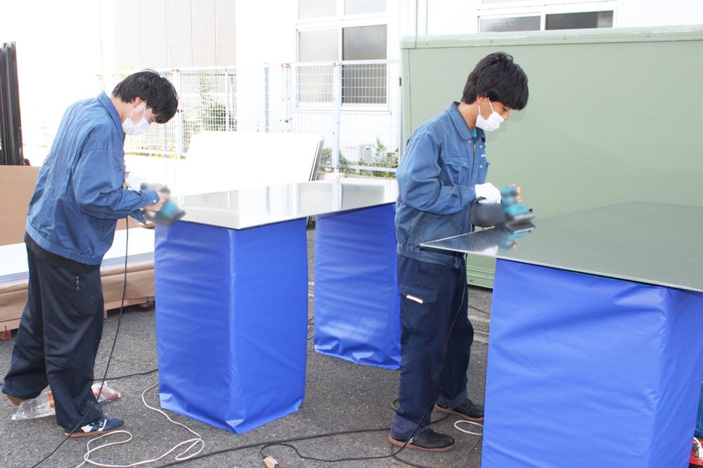 「ジュラルミン(A2017)板」バリ取り①