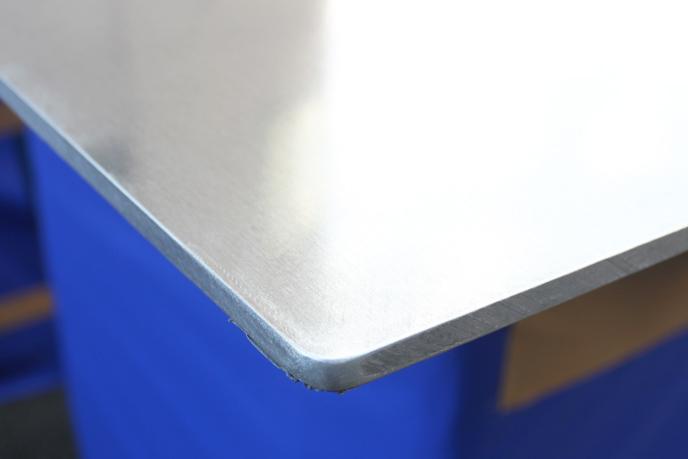「ジュラルミン(A2017)板」バリ取り後
