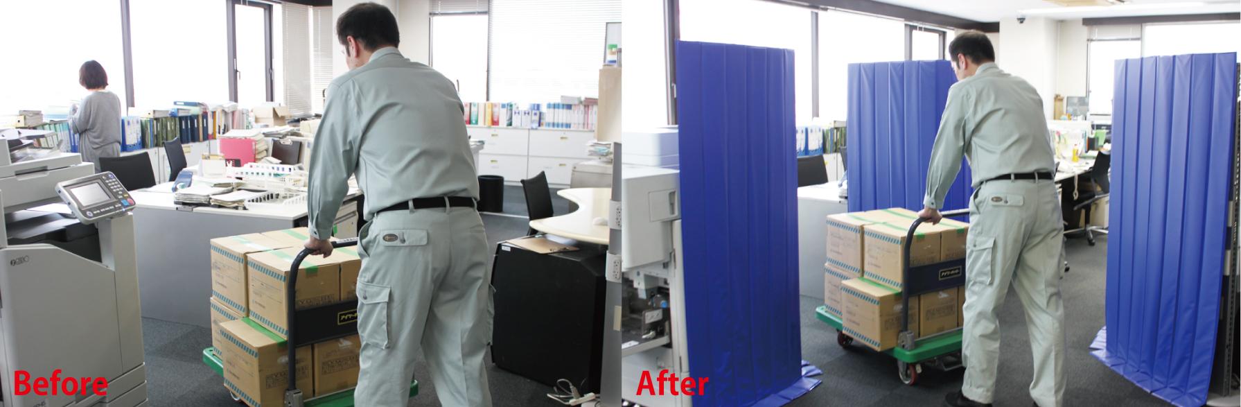 オフィス内でのロールスタット使用例
