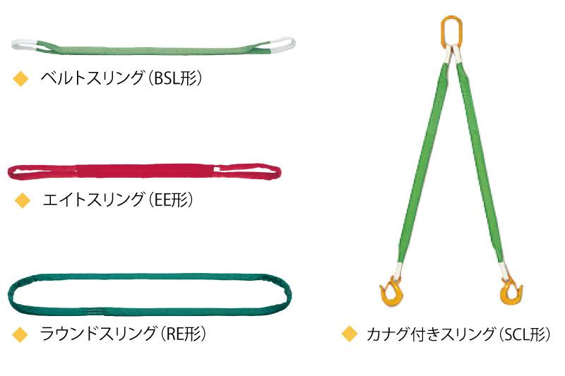 豊富なラインナップのキトー繊維スリング
